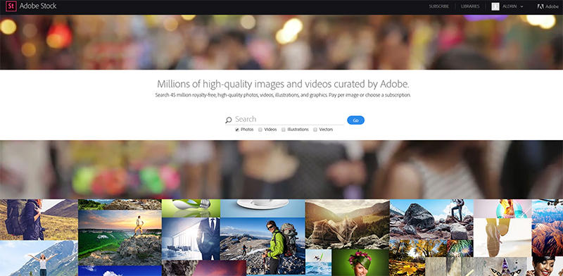 adobe stock home 2016